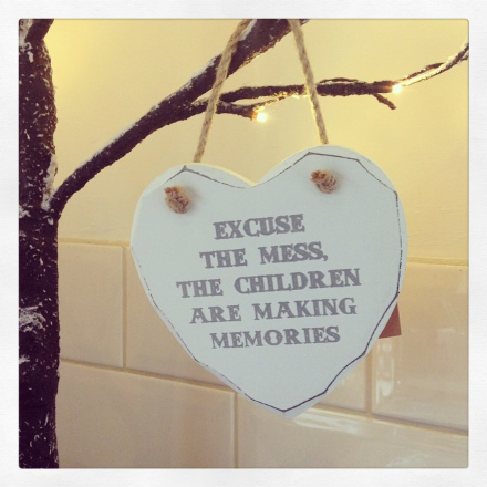 50% off Excuse The Mess Hanging Wooden Heart